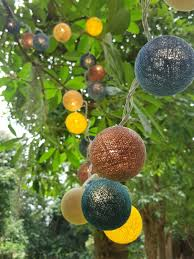 cotton ball lights for home decoration wedding patio indoor string