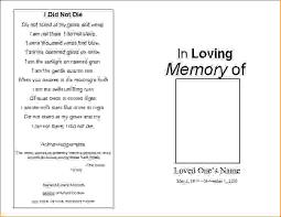 memorial program templates 7 memorial service program templatesagenda template sle