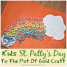 kids st patty u0027s day to the pot of gold craft http