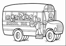 unbelievable bus coloring sheet with transportation