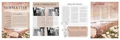 the power of a printable newsletter template sharefaith magazine