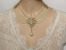 collar necklace sale images Bridal pearl necklace pearls chocker necklace jewelry rhinestone jpg