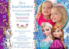 frozen anna u0026 elsa birthday photo invitation printable just