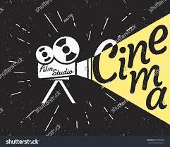 movie projector yellow light cinema letters stock vector 329638508