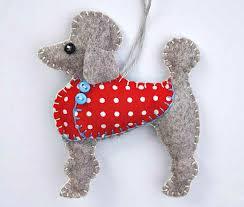 poodle ornament felt ornament by puffinpatchwork