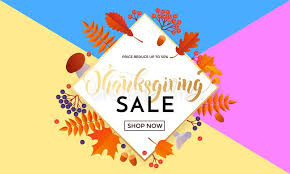 thanksgiving sale poster autumn promo discount golden web banner