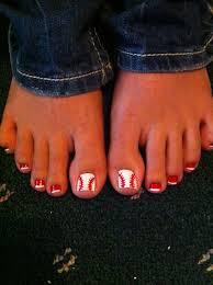 baseball nail designs baseball toe nails gotta remember this