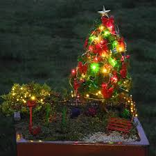 decorating your miniature garden for holidays mini