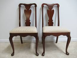 pair pennsylvania house solid cherry chippendale dining room