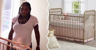 new mom serena williams u0027 rose gold crib is straight up nursery