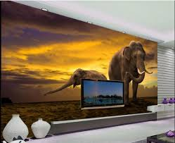 online get cheap backdrop elephant aliexpress com alibaba group 3d wall murals wallpaper home decoration wild elephant prairie nature tv backdrop wallpapers for living room