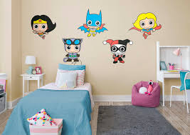 dc comics girl power collection wall decal shop fathead for dc comics girl power collection fathead wall decal