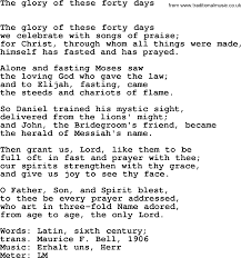 lent hymns song the of these forty days lyrics midi