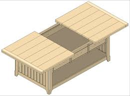 coffee table building plans new prairie series furniture plan klockit s blog