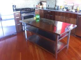 kitchen island with stainless steel top kitchen island stainless steel top snaphaven