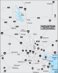 Houston Map Usa by Houston Metro Area Map