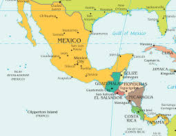 Oaxaca Mexico Map Central America And The Caribbean Political Map Free Images At