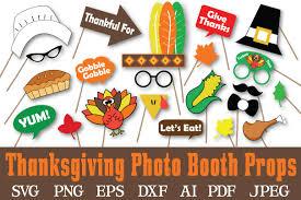 thanksgiving props thanksgiving photo booth props svg c design bundles