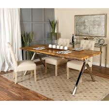 monarch specialties kitchen dining room furniture furniture stained brown reclaimed wood rectangular dining table