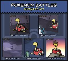 Pokemon Battle Meme - pokemon battles 5 days of art art meme by peekingboo on deviantart