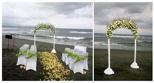 wedding arches made twigs florette bali wedding at villa in ketewel