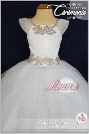 robe tutu de baptême longue blanche en tulle bébé fille cérémonie
