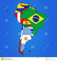The Map Of South America by Oceania Flag Map Stock Vector Image 48901758