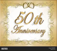 50th wedding anniversary 50th wedding anniversary invitation image photo bigstock