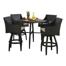 Bar Height Patio Chairs by 5 Piece Bar Height Patio Set