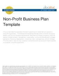 Free Non Profit Business Plan Template by Non For Profit Organization Business Plan Retailers Generated Gq