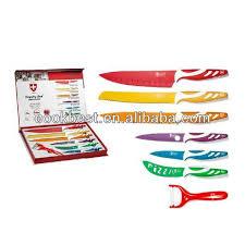 swiss kitchen knives revolution series 8pcs multicolor non stick knife set kitchen
