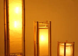 Bamboo Floor Lamp Bamboo Floor Lamp With Natural Linen Shade Hommum