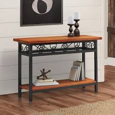 Metal And Wood Sofa Table by Scrolled Metal And Wood Sofa Table Free Shipping Today