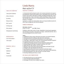 hairdressing cv template new hair stylist resumes resume template