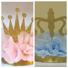 set of 2 princess or little prince gender reveal centerpieces