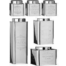 kitchen canisters stainless steel stainless steel vintage retro kitchen canister sets ebay