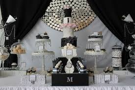 white party table decorations black and white party black white affair engagement party dessert