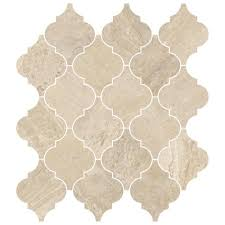 master bath insert and floor impero reale arabesque marble mosaic