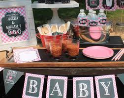 coed baby shower themes bbq baby shower etsy