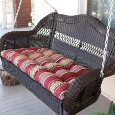 Black Wicker Patio Furniture - patio astonishing wicker patio swing porch swings for sale resin