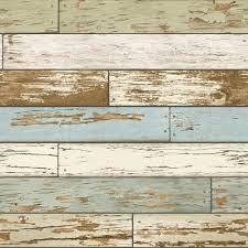 wood wallpaper nuwallpaper multi color old salem vintage wood peel and stick
