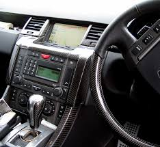 range rover sport black black carbon fibre under screen panel range rover sport ebay