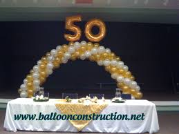 50th anniversary or birthday balloon arch 50thbirthday balloon