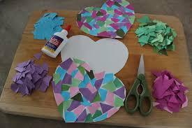 heart mosaic craft bakersbeans wanda baker