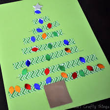 washi tape christmas tree craft fine motor practice i heart