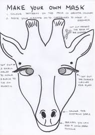 african animal masks templates kids coloring europe travel