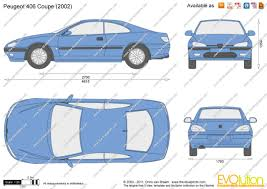 peugeot 406 coupe 2003 the blueprints com vector drawing peugeot 406 coupe