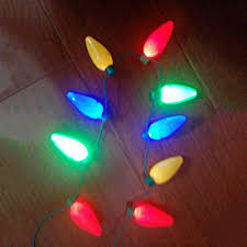 unisex rock led light up christmas jewelry bulb necklace party