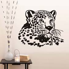 compare prices on wall decorations girls online shopping buy low wall stickers for kids rooms pvc removable leopard head girls room wall decoration animal hollow out