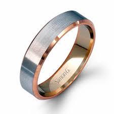 mens two tone wedding band g men s 14k two tone gold wedding band ring